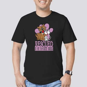 Rescued Is My Favorite Breed Men's Fitted T-Shirt