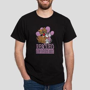 Rescued Is My Favorite Breed Dark T-Shirt