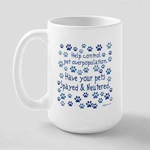 Help Control - Spayed & Neutered Large Mug