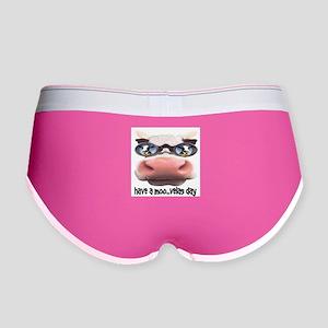 Cow in Sunglasses Women's Boy Brief
