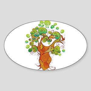 Peaceful Tree Sticker (Oval)