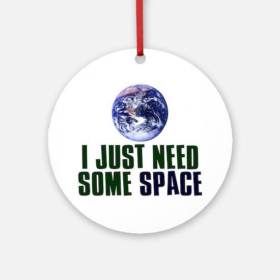 Astronaut Humor Ornament (Round)