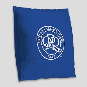 Queens Park Rangers Seal Burlap Throw Pillow