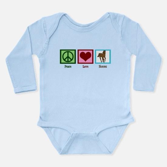Peace Love Horses Long Sleeve Infant Bodysuit