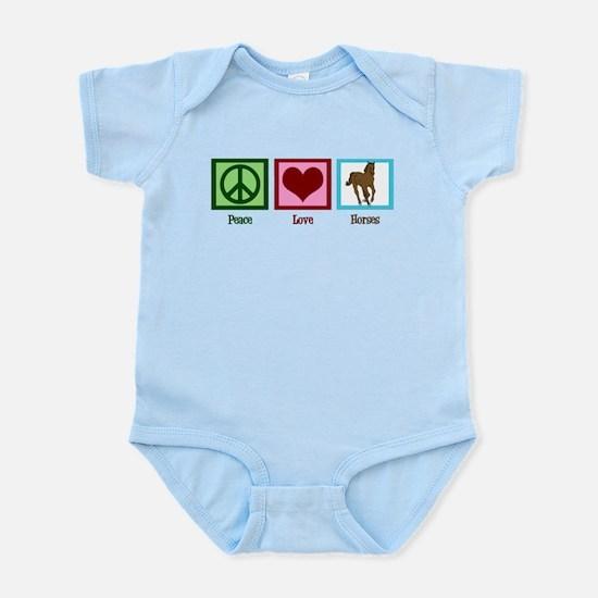 Peace Love Horses Infant Bodysuit