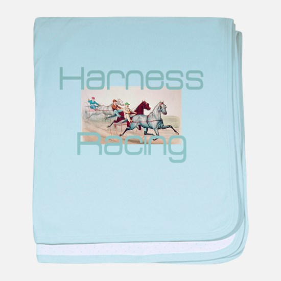 Harness Racing baby blanket