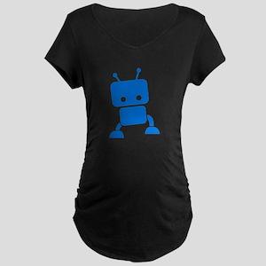 Baby Robot Maternity Dark T-Shirt