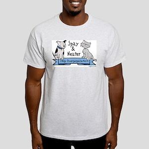 Stop Overpopulation Ash Grey T-Shirt