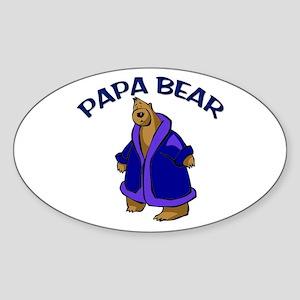 Papa Bear Oval Sticker