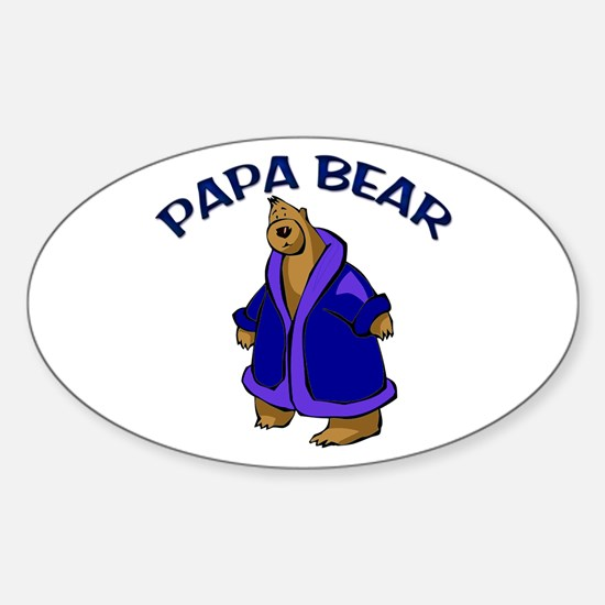 Papa Bear Oval Decal