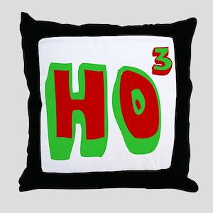 Ho3 (Ho, Ho, Ho) Throw Pillow