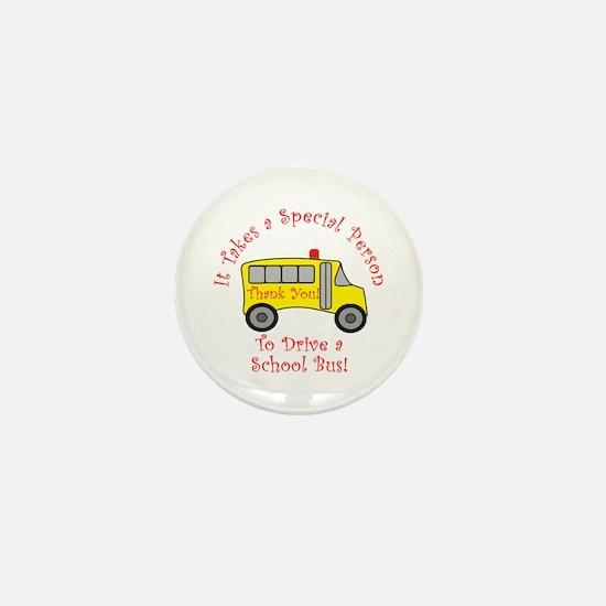 School Bus Driver Mini Button