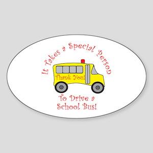School Bus Driver Sticker (Oval)
