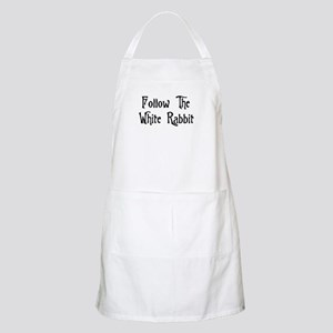 Follow The White Rabbit Apron