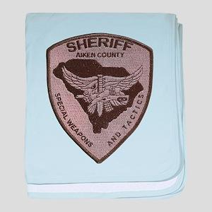 Aiken County Sheriff SWAT baby blanket