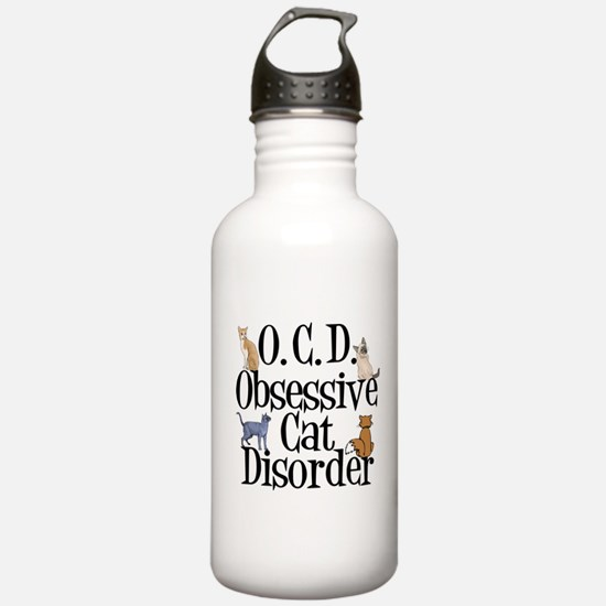 Obsessive Cat Disorder Water Bottle