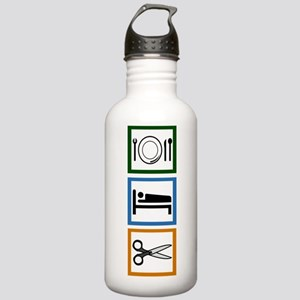 Eat Sleep Cut Stainless Water Bottle 1.0L