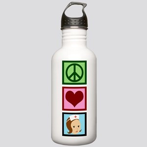 Peace Love Nurse Stainless Water Bottle 1.0L