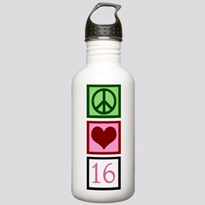 Peace Love Sweet 16 Stainless Water Bottle 1.0L
