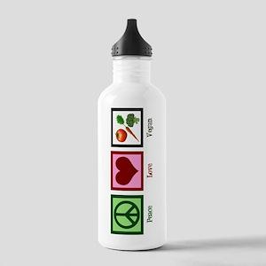 Peace Love Vegan Stainless Water Bottle 1.0L