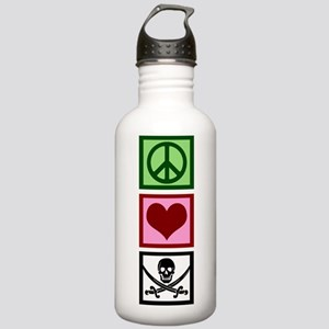 Peace Love Pirates Stainless Water Bottle 1.0L