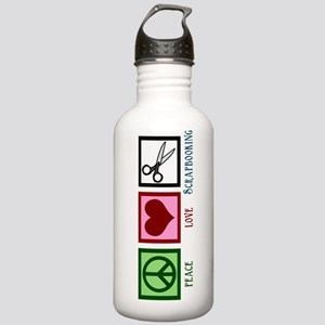 Peace Love Scrapbooking Stainless Water Bottle 1.0