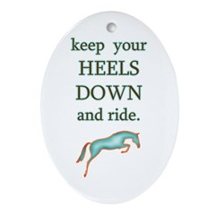 Heels Down + Ride Oval Ornament