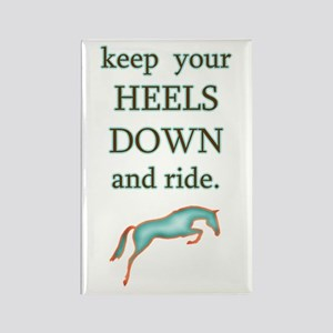 Heels Down + Ride Rectangle Magnet