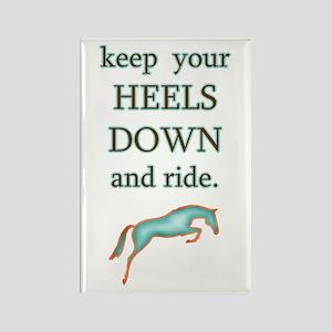 Heels Down + Ride Rectangle Magnet