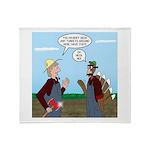 Turkey Farmer Throw Blanket