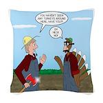 Turkey Farmer Woven Throw Pillow