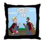 Turkey Farmer Throw Pillow