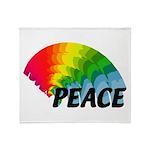 Rainbow Peace Throw Blanket