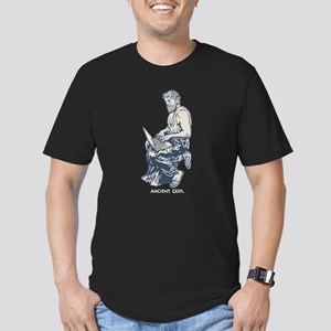 Ancient Geek Men's Fitted T-Shirt (dark)