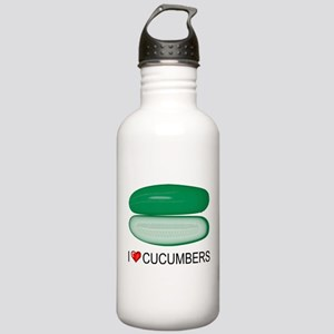 I Love Cucumber Stainless Water Bottle 1.0L