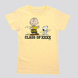 Charlie Brown Snoopy Class of XXXX Girl's Tee
