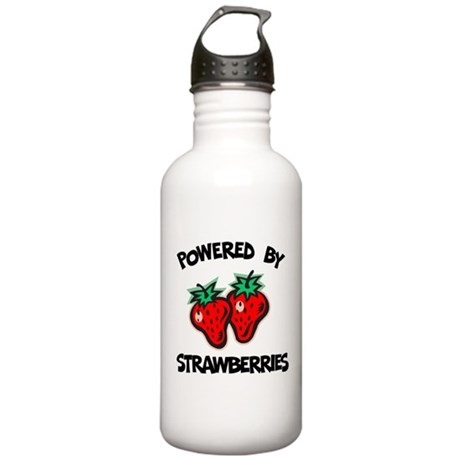 Powered By Strawberries Stainless Water Bottle 1.0