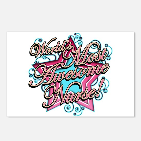 Worlds Most Awesome Nurse Postcards (Package of 8)
