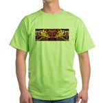 Two wolves Green T-Shirt