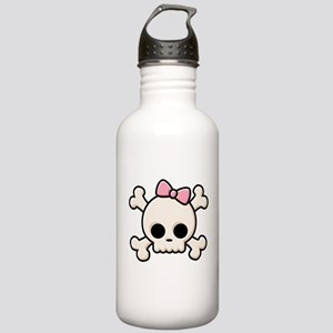 Cute Skull Girl Stainless Water Bottle 1.0L