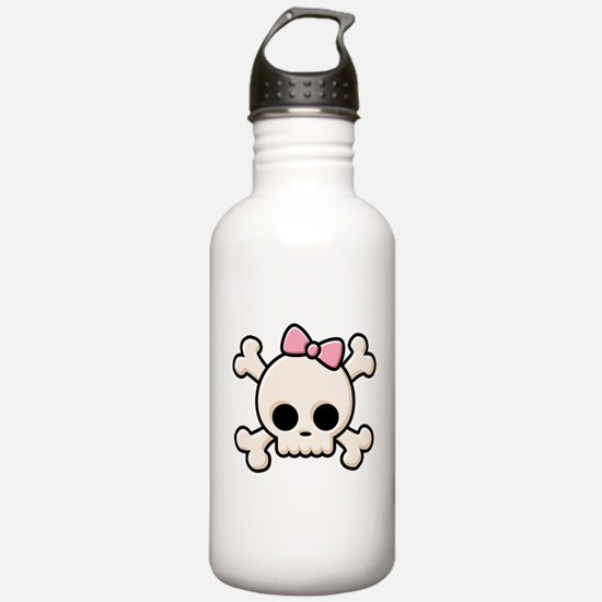 Cute Skull Girl Water Bottle