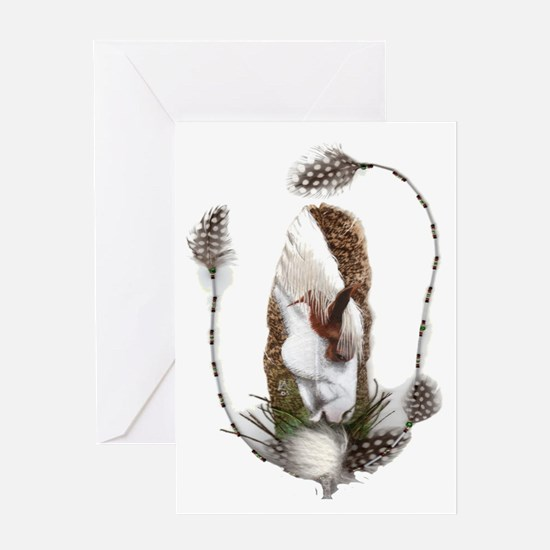 American Indian Feathers Greeting Card