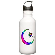 Rainbow Islamic Symbol Stainless Water Bottle 1.0L