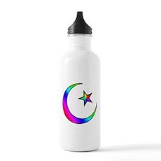Rainbow Islamic Symbol Stainless Water Bottle 1.0L