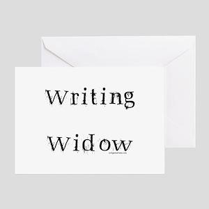 Writing widow Greeting Card