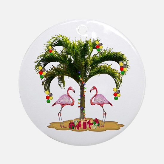 Tropical Holiday Ornament (Round)