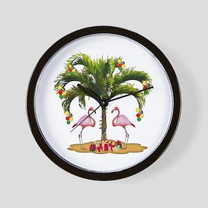 Tropical Holiday Wall Clock