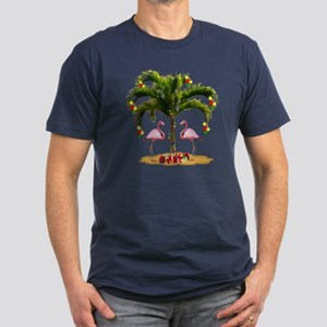 Tropical Holiday Men's Fitted T-Shirt (dark)
