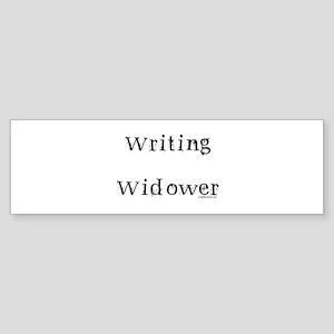 Writing widower Sticker (Bumper)