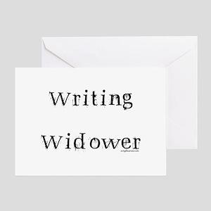 Writing widower Greeting Card